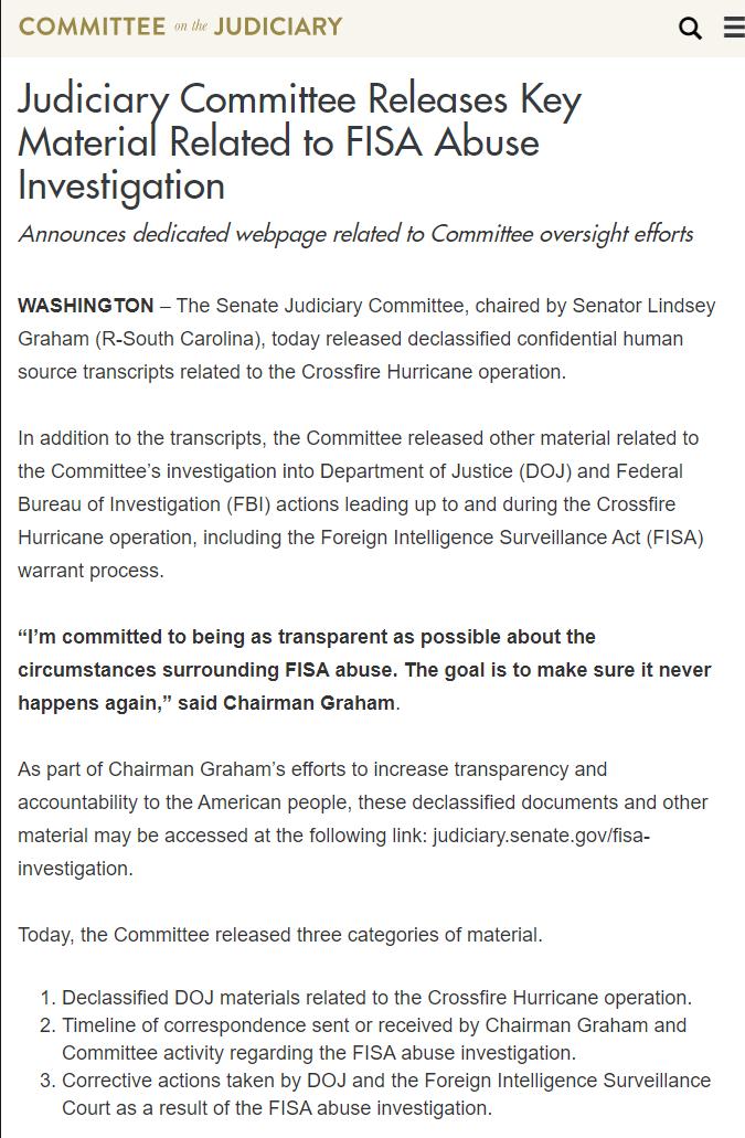 QAnon 18 April 2020 - FISA Abuse